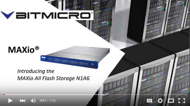(VIDEO) - (MAXio All Flash Storage N1A6)